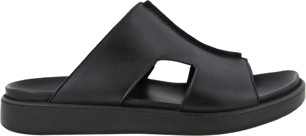 Men's ECCO Flowt Luxe Slide, Black Full Grain Leather, large, image 2