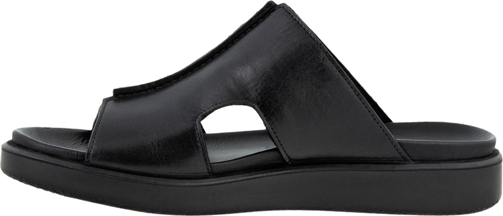 Men's ECCO Flowt Luxe Slide, Black Full Grain Leather, large, image 3