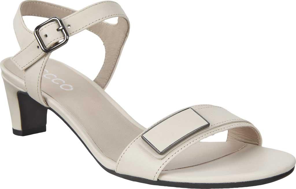 Women's ECCO Shape 45 Sleek Heeled Sandal, Limestone Full Grain Leather, large, image 1