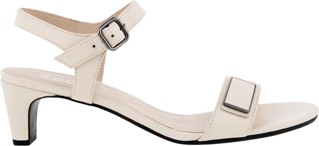 Women's ECCO Shape 45 Sleek Heeled Sandal, Limestone Full Grain Leather, large, image 2