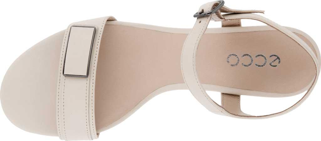 Women's ECCO Shape 45 Sleek Heeled Sandal, Limestone Full Grain Leather, large, image 4