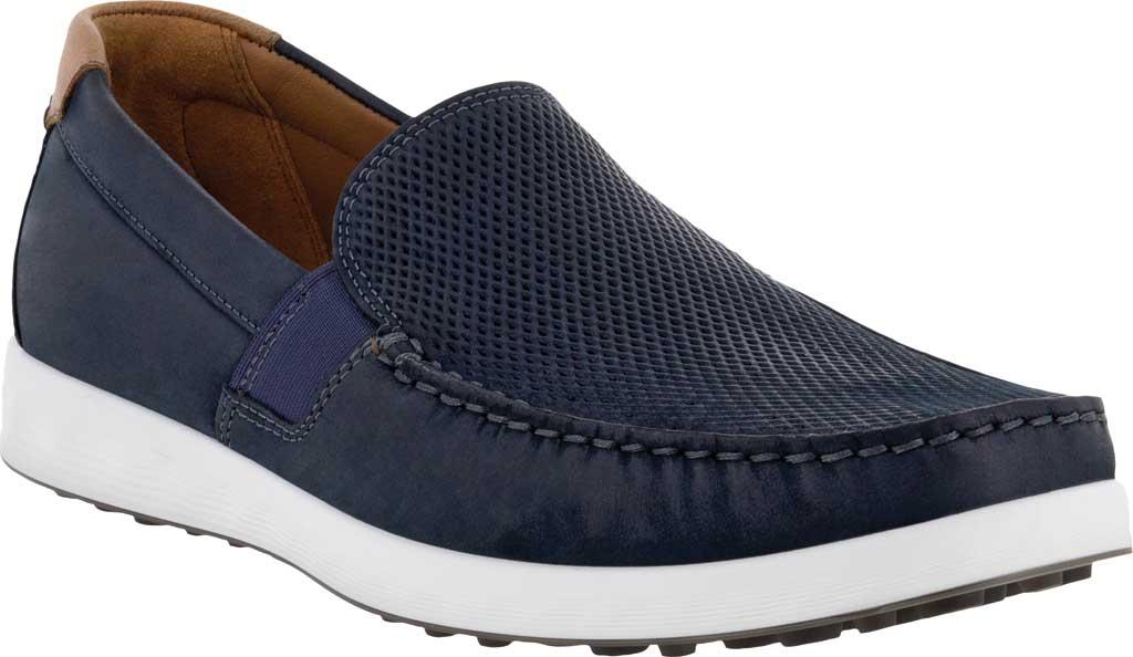Men's ECCO S Lite Slip On Sneaker, Warm Grey/Cognac Perforated Nubuck, large, image 1