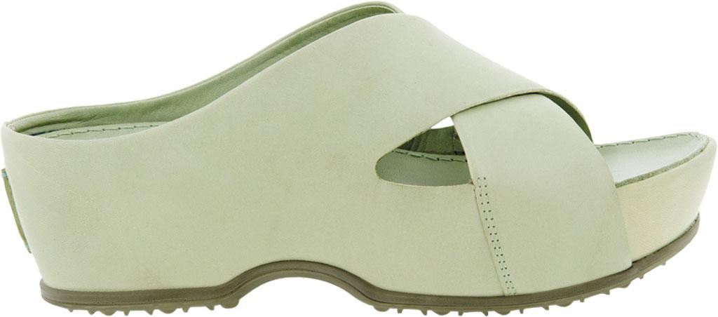 Women's ECCO Ifla Platform Wedge Slide, Matcha Full Grain Leather, large, image 2