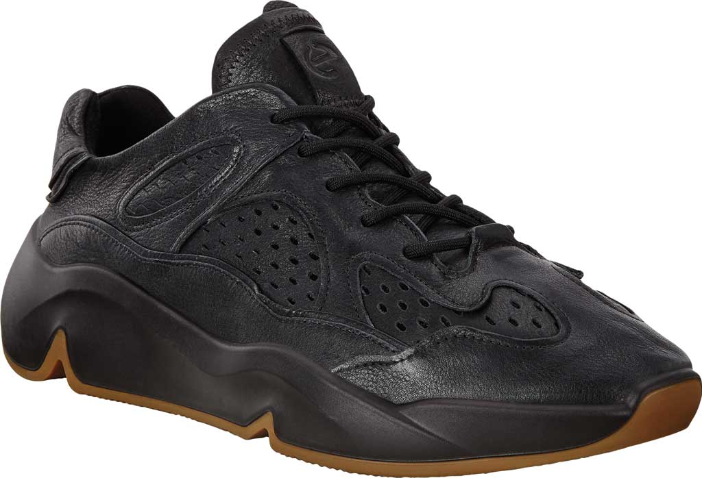 Men's ECCO Chunky Sneaker, Black Full Grain Leather, large, image 1