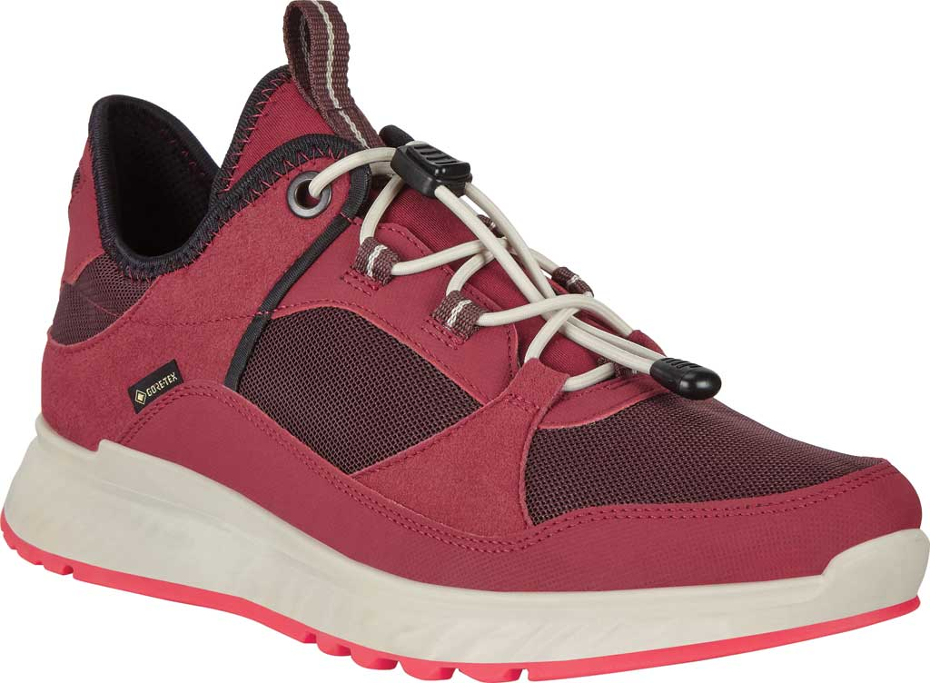 Women's ECCO Exostride Low GORE-TEX Sneaker, Syrah/Fig Synthetic, large, image 1