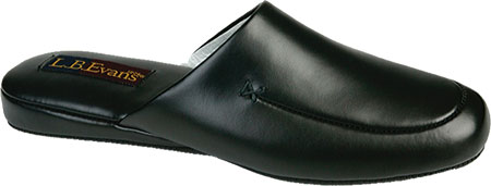 Men's L.B. Evans Duke Scuff, Black Leather, large, image 1