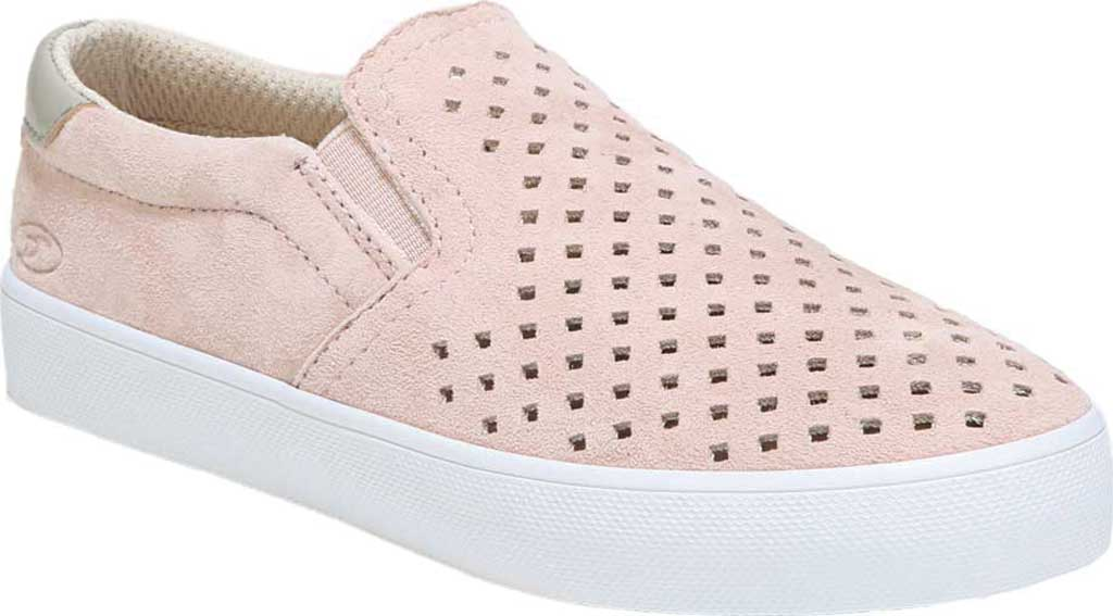 Girls' Dr. Scholl's Scout Slip-On Sneaker, Blush Suede, large, image 1