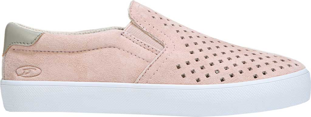 Girls' Dr. Scholl's Scout Slip-On Sneaker, Blush Suede, large, image 2