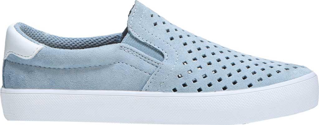 Girls' Dr. Scholl's Scout Slip-On Sneaker, Light Blue Suede, large, image 2