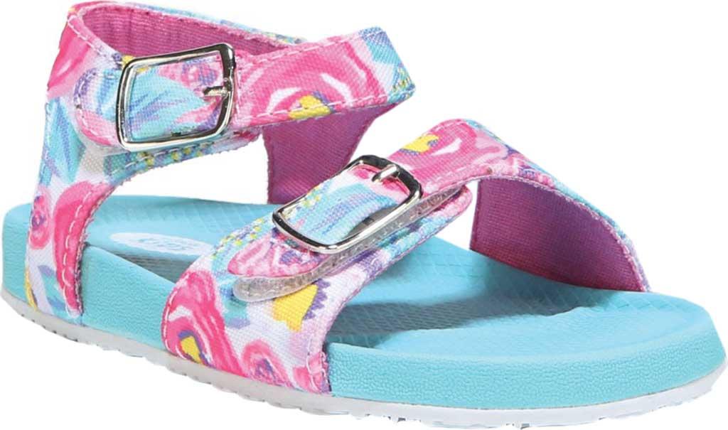 Infant Girls' Dr. Scholl's Isla Ankle Strap Sandal, Multi Floral Canvas, large, image 1