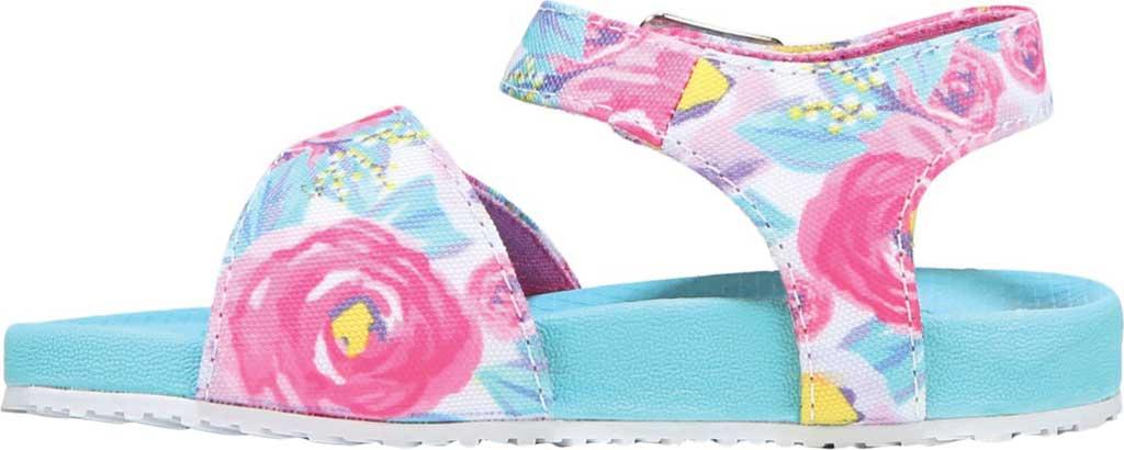 Infant Girls' Dr. Scholl's Isla Ankle Strap Sandal, Multi Floral Canvas, large, image 3