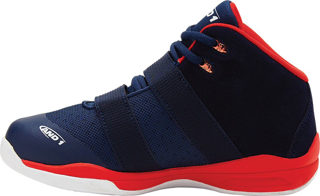 Children's AND1 Chosen One II Basketball Shoe, Peacoat/Fiery Red/White, large, image 2