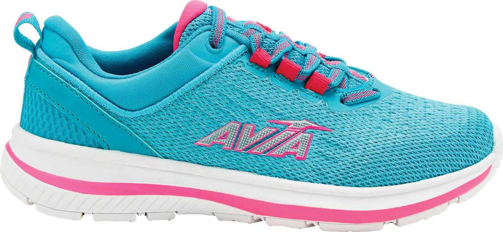 Girls' Avia Avi-Factor Sneaker, Scuba Blue/Pink Sizzle/Bright White, large, image 1