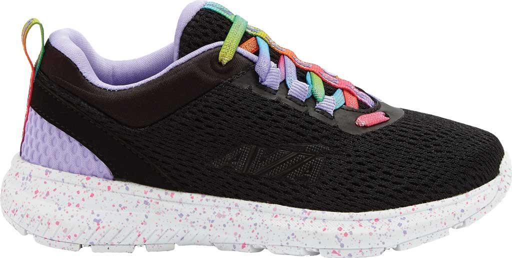 Girls' Avia Avi-Factor Sneaker, Black/Violet Tulip/Multi, large, image 1