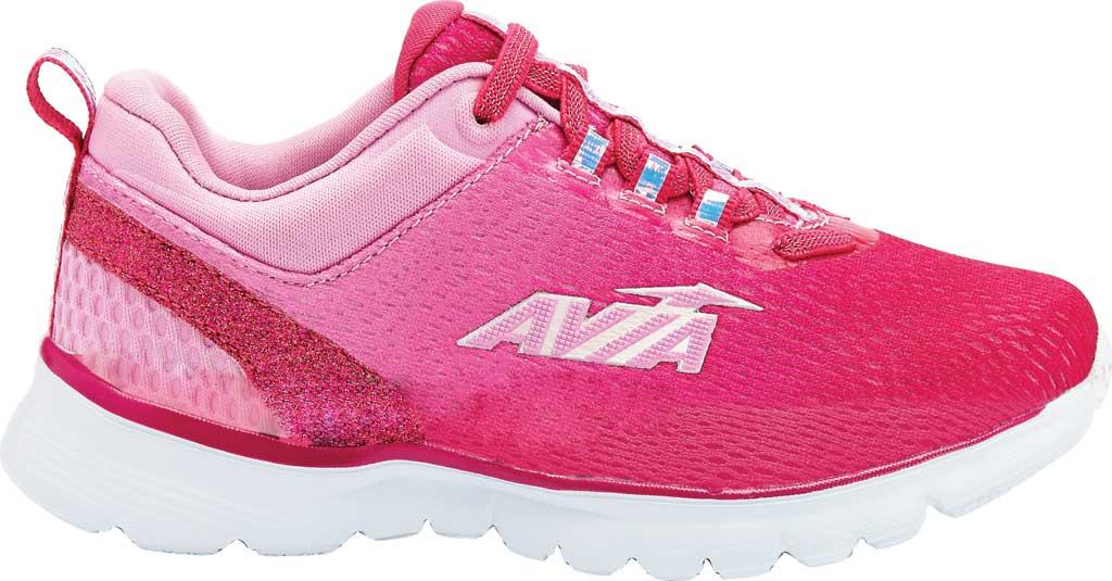 Girls' Avia Avi-Factor Sneaker, Cabaret/Fuchsia Pink/Iridescent/Silver, large, image 1