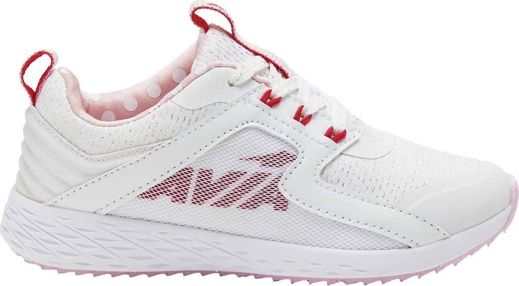 Girls' Avia Avi-Ryder Sneaker, White/Jazzy/Ballerina, large, image 1