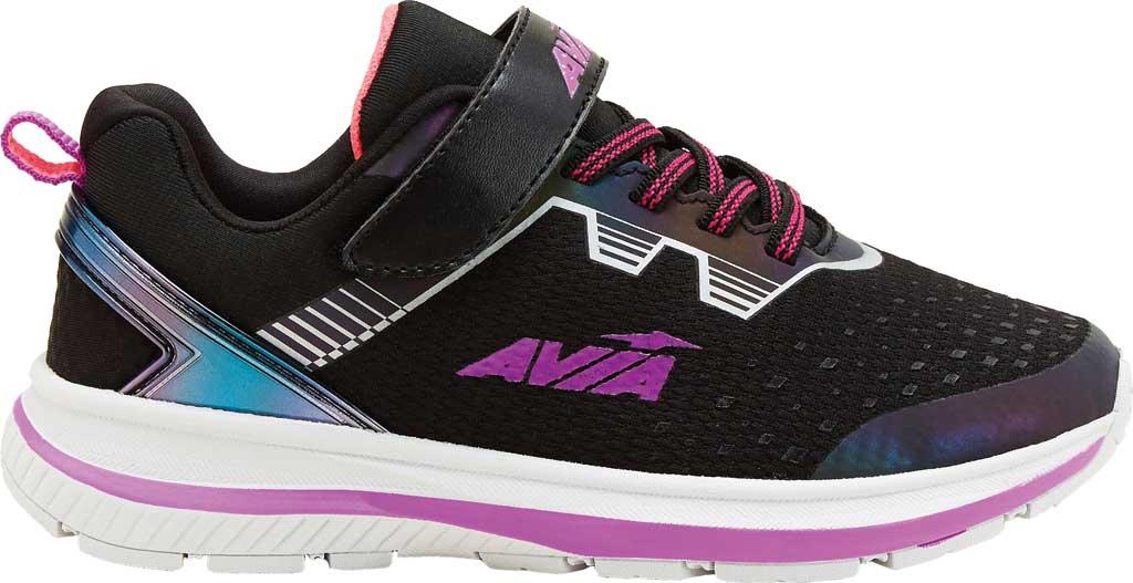 Girls' Avia Avi-Maze Running Sneaker, Black/Cactus Flower/Coral Punch, large, image 1