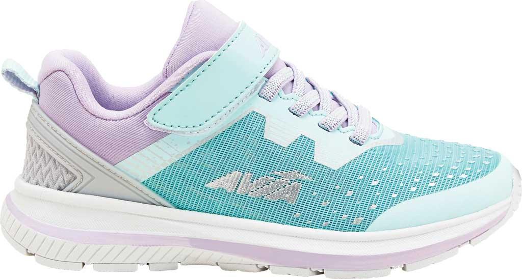Girls' Avia Avi-Maze Running Sneaker, Fair Aqua/Pastel Lilac/Silver, large, image 1