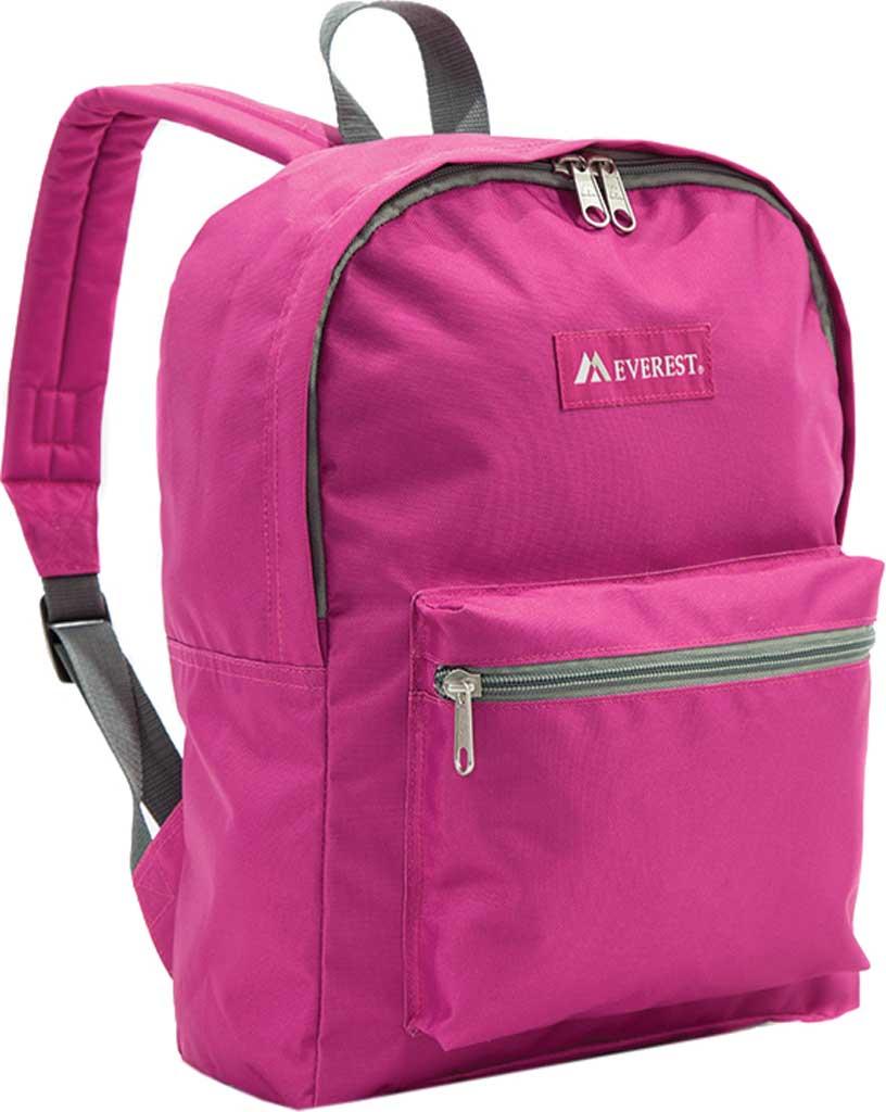 Everest Basic Backpack, Magenta Orchid, large, image 1