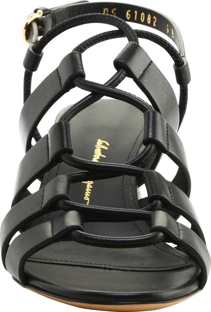 Women's Salvatore Ferragamo Sirmio 55 Cage Sandal, Nero Leather, large, image 3