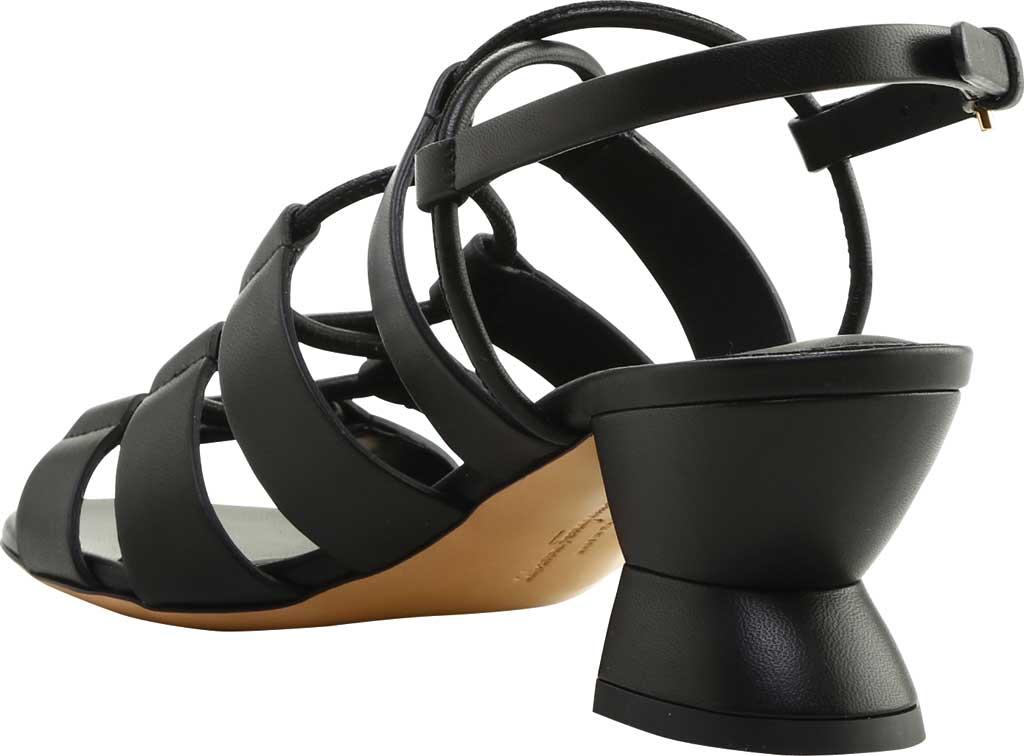 Women's Salvatore Ferragamo Sirmio 55 Cage Sandal, Nero Leather, large, image 4