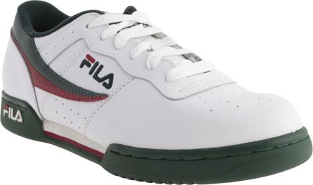 Men's Fila Original Fitness 11F16LT Sneaker, White/Sycamore/Biking Red, large, image 1