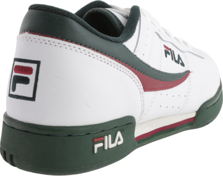 Men's Fila Original Fitness 11F16LT Sneaker, White/Sycamore/Biking Red, large, image 4
