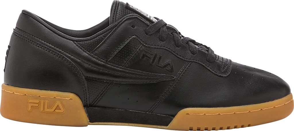 Men's Fila Original Fitness Leather, Black/Black/Gum, large, image 1