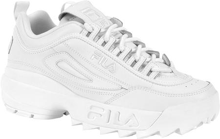 Men's Fila Disruptor II, White/White/White, large, image 1