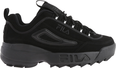 Boys' Fila Disruptor II, Triple Black, large, image 2
