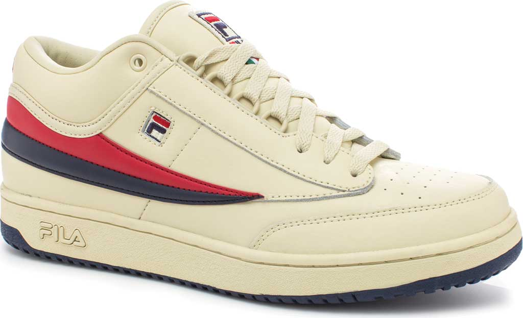 Men's Fila T1-Mid, Cream/Peacoat/Chinese Red, large, image 1