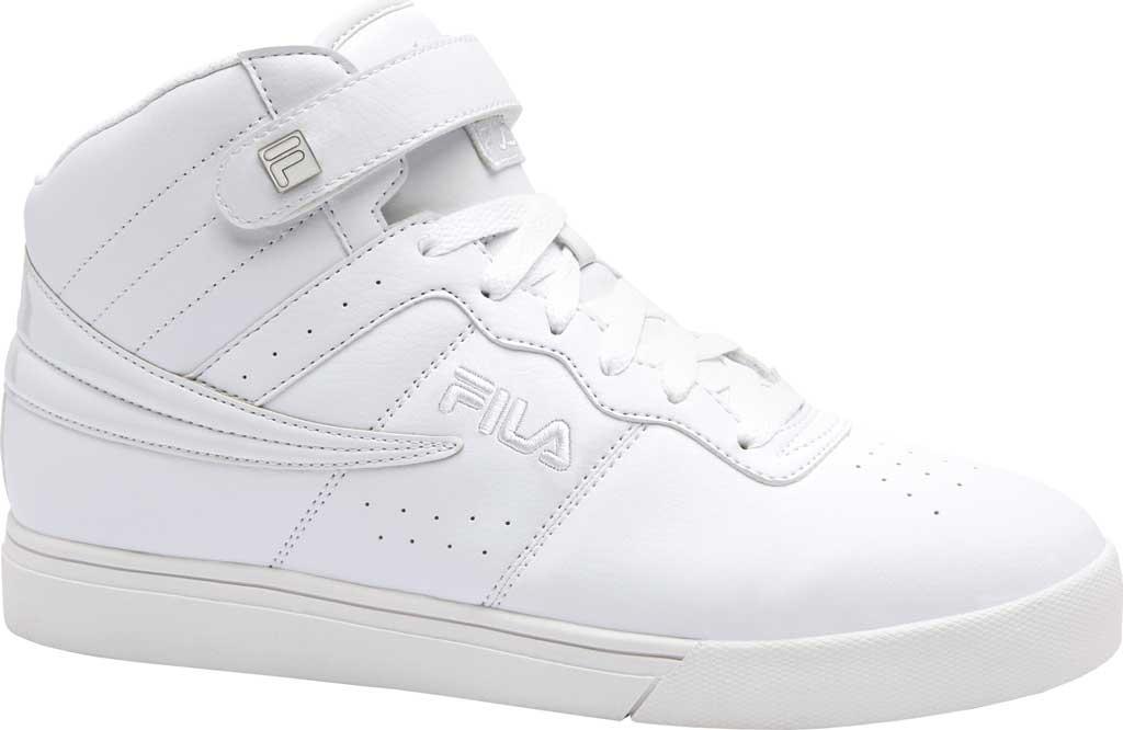 Men's Fila Vulc 13, White/Silver/White, large, image 1