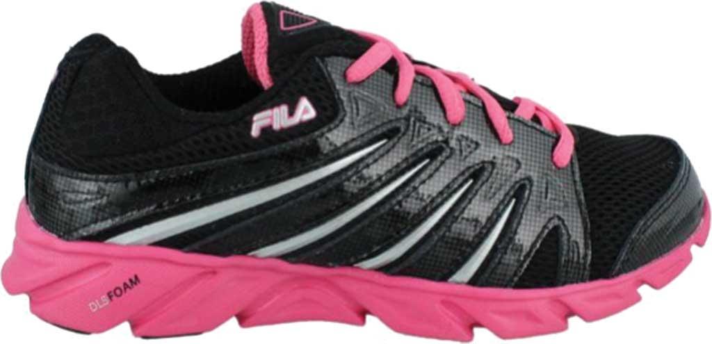 Women's Fila Swyft, Black/Hot Pink/Silver, large, image 1