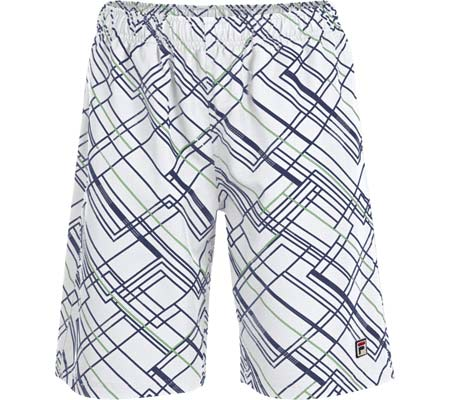 Boys' Fila Printed Fashion Short, White/Peacoat/Poison Green, large, image 1