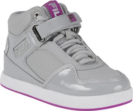 Children's Fila Displace, Highrise/Striking Purple/White, large, image 1