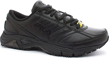 Women's Fila Memory Flux Slip Resistant, Black/Black/Black, large, image 1