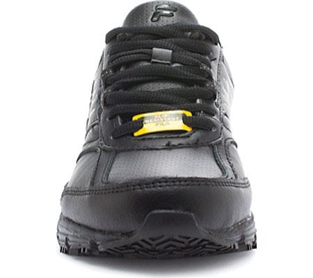 Women's Fila Memory Flux Slip Resistant, Black/Black/Black, large, image 2