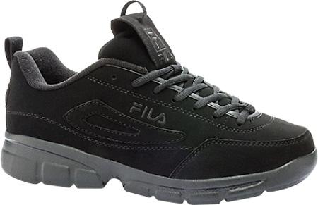 Men's Fila Disruptor SE, Black/Black/Black, large, image 1
