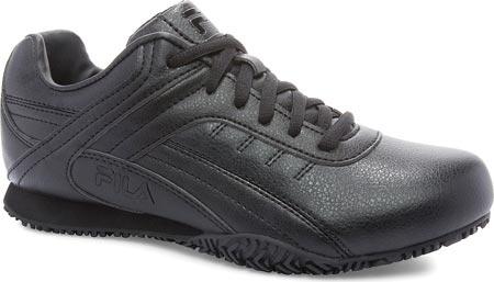 Women's Fila Memory Elleray 5 Slip Resistant Shoe, Black/Black/Black, large, image 1
