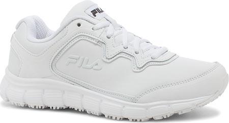 Women's Fila Memory Fresh Start SR Shoe, White/White/White, large, image 1