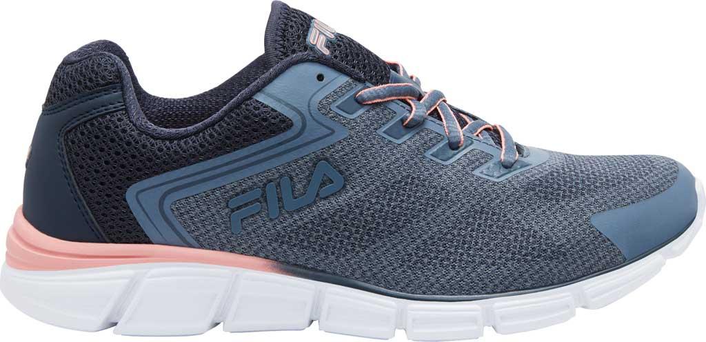 Women's Fila Memory Exolize Running Sneaker, Folkstone Gray/Ombre Blue/Desert Flower, large, image 1
