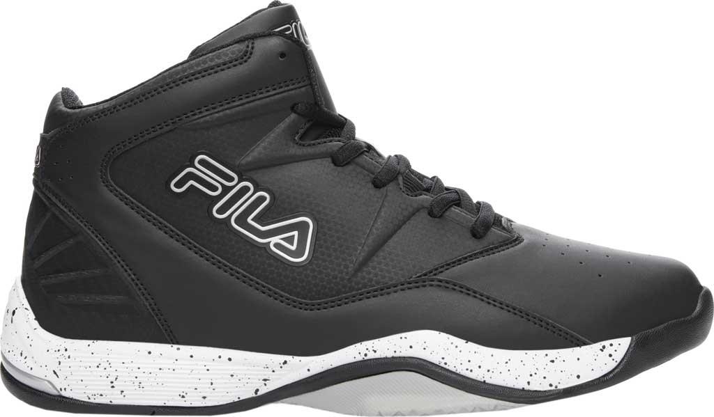 Men's Fila Breakaway 9 Basketball Shoe, Black/White/Metallic Silver, large, image 1