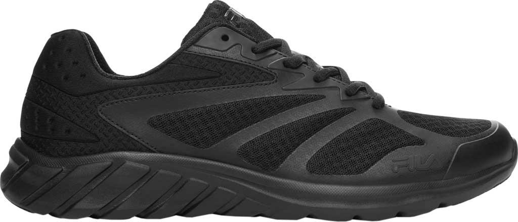 Men's Fila Memory Speedstride 4 Running Shoe, Black/Black/Black, large, image 1