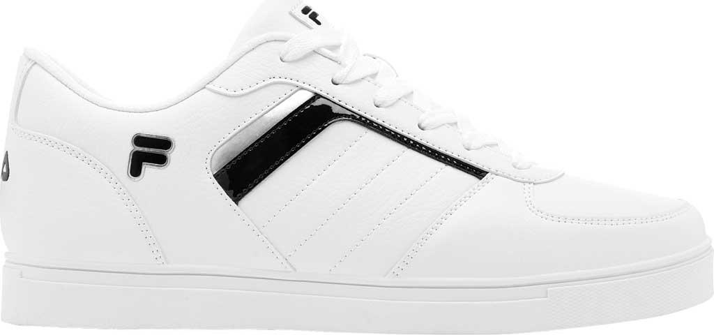 Men's Fila Davenport 4 Low Top Sneaker, White/Black/White, large, image 1