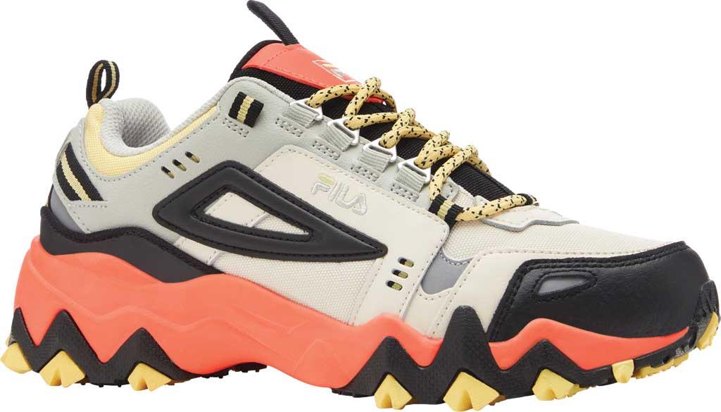Women's Fila Oakmont TR Sneaker, Gardenia/Black/Fiery Coral, large, image 1