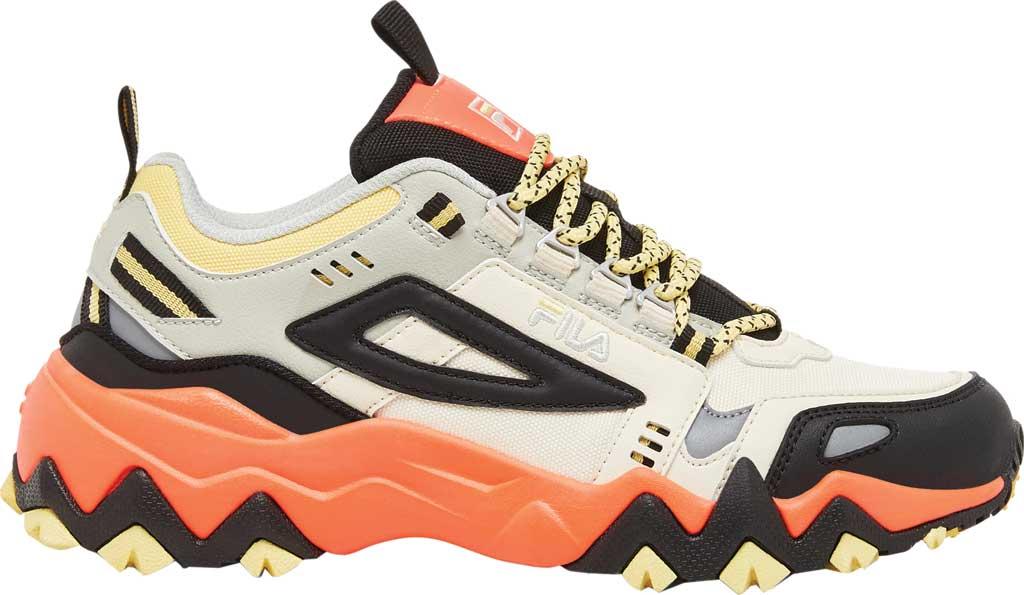 Women's Fila Oakmont TR Sneaker, Gardenia/Black/Fiery Coral, large, image 2