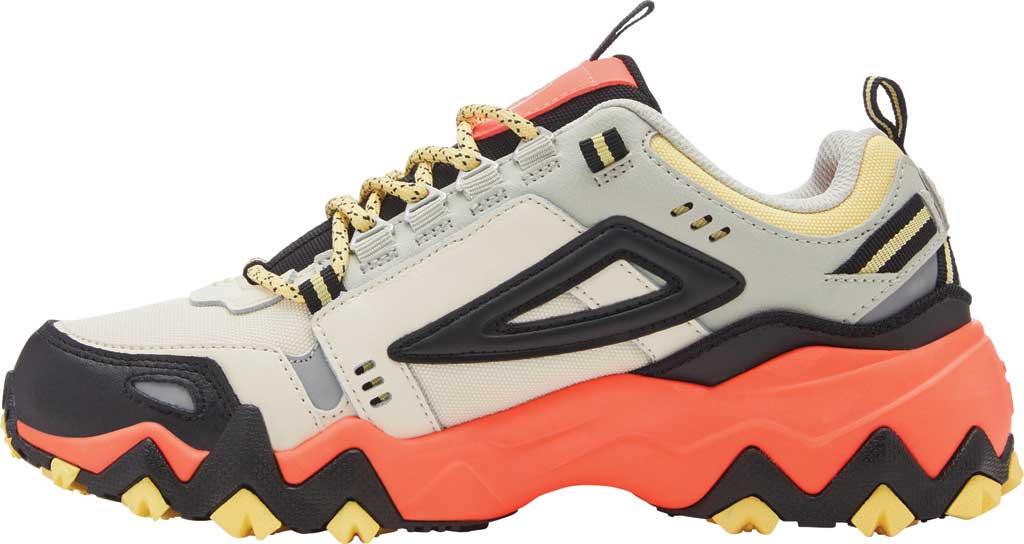Women's Fila Oakmont TR Sneaker, Gardenia/Black/Fiery Coral, large, image 3
