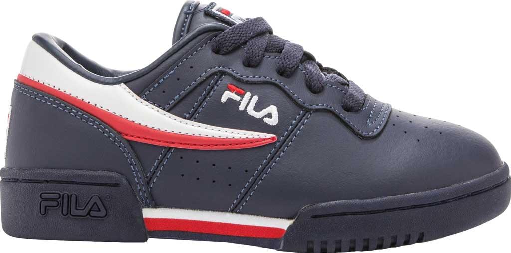 Children's Fila Original Fitness Sneaker, Navy/White/Red, large, image 1