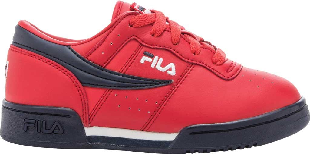 Children's Fila Original Fitness Sneaker, Red/Navy/White, large, image 1