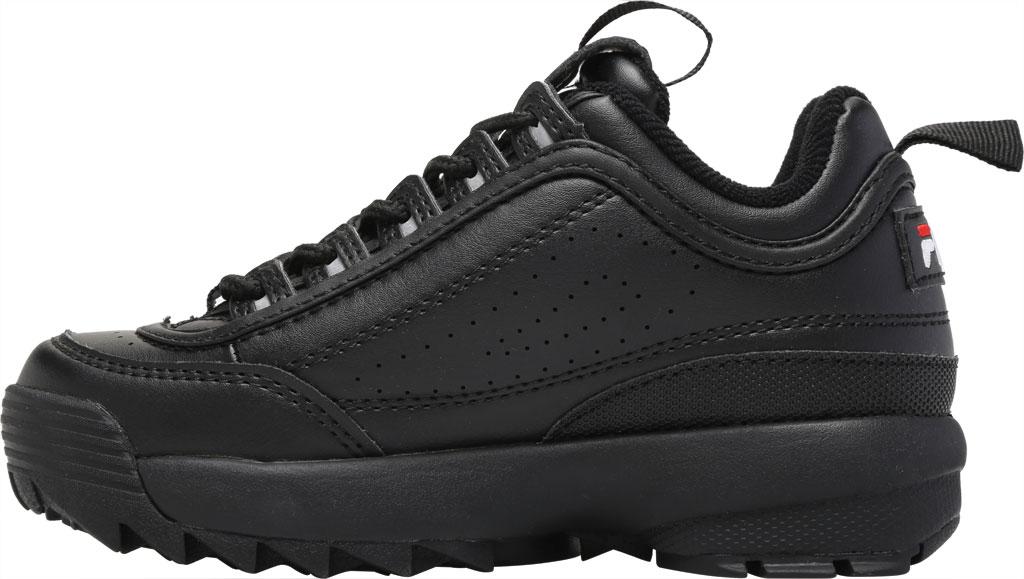 Children's Fila Disruptor II Premium Sneaker, Black/Black/White, large, image 3